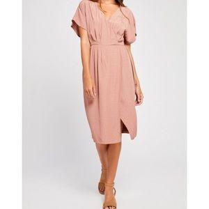 Gentle Fawn Wrap Dress